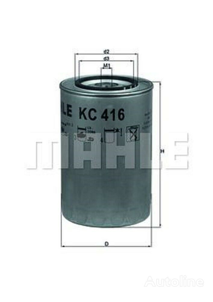 new MAHLE ORIGINAL fuel filter for IVECO truck