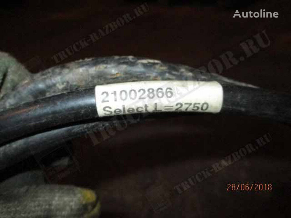 (chernyy), L=2750 gear shift cable for VOLVO tractor unit