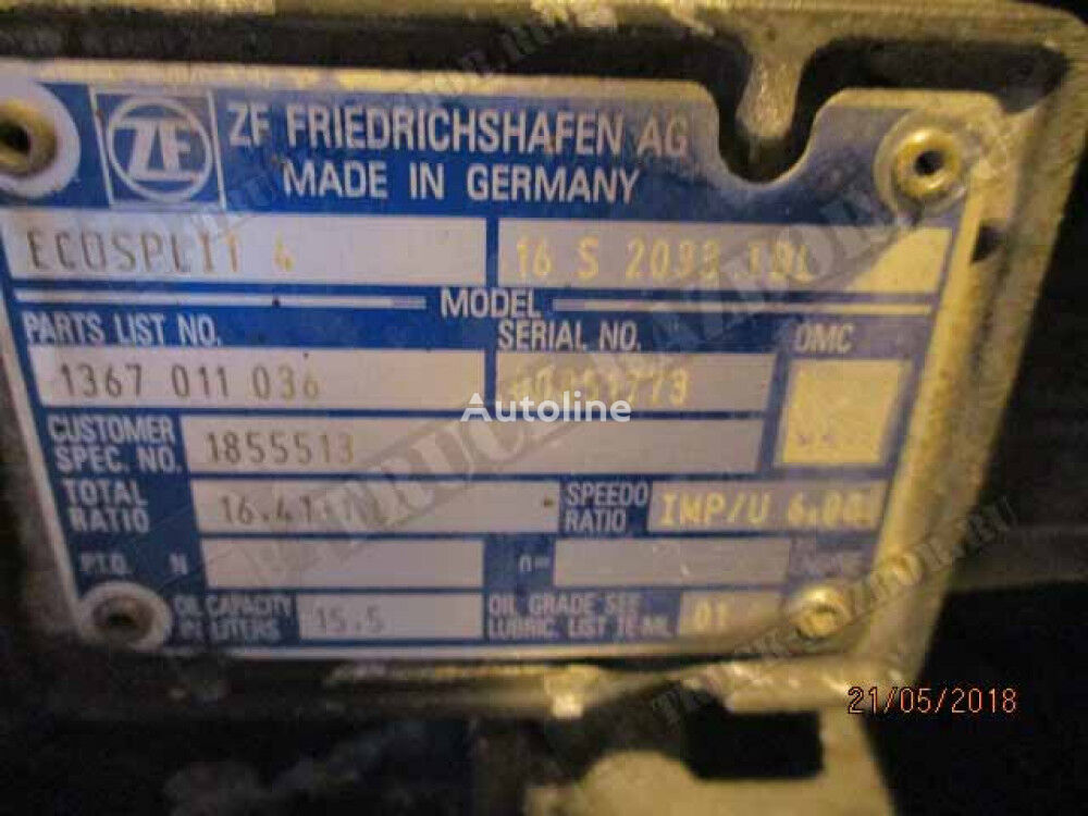 gearbox for DAF tractor unit