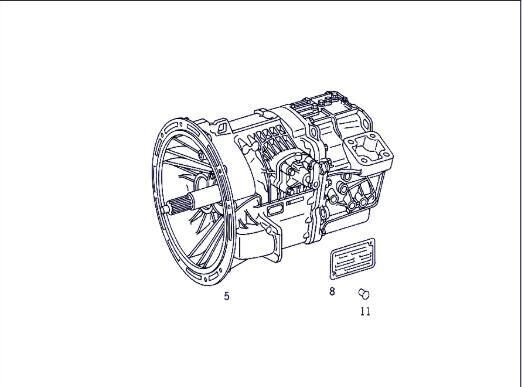 gearbox for MERCEDES-BENZ ATEGO 1017,1017 L truck