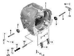 JOHN DEERE - r134710 - Obudowa Power Quad gearbox for JOHN DEERE 6800 tractor