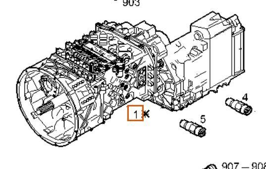 Caja De Cambios Automatica Iveco Stralis AS 440S54 (8869969) gearbox for IVECO Stralis AS 440S54 truck