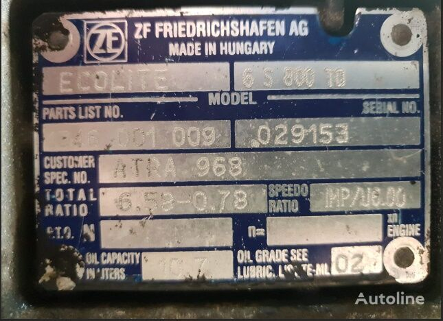 DAF 6S800TO gearbox for DAF CF65,LF45,LF55 tractor unit