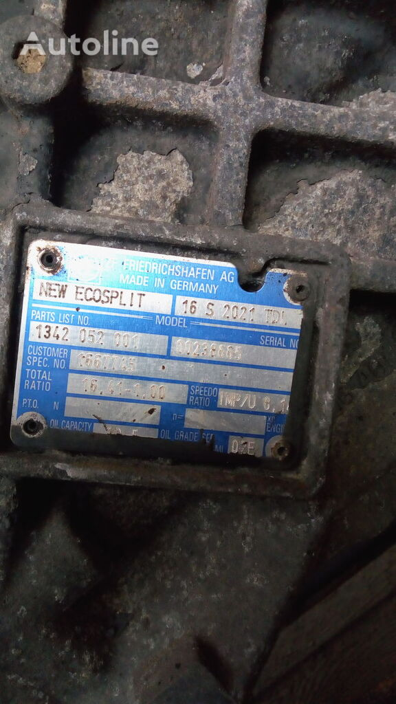 ZF 16S2021 IT,16S2321DT IT gearbox for DAF 105 tractor unit