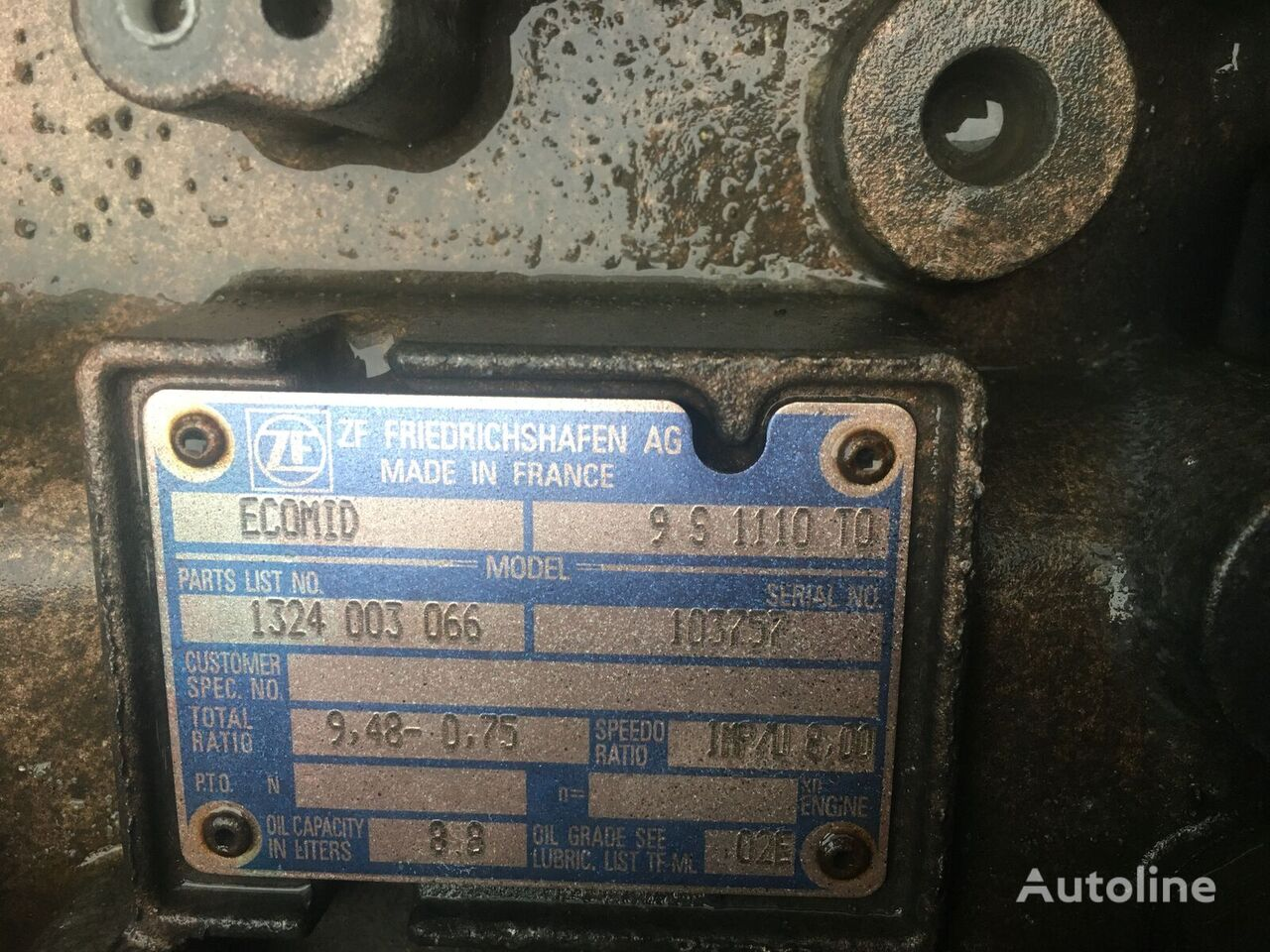 ZF Ecomid 9D1110 TO gearbox for tractor unit