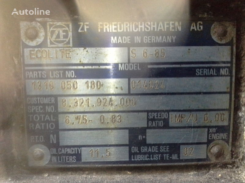 ZF S6-85 gearbox for MERCEDES-BENZ bus