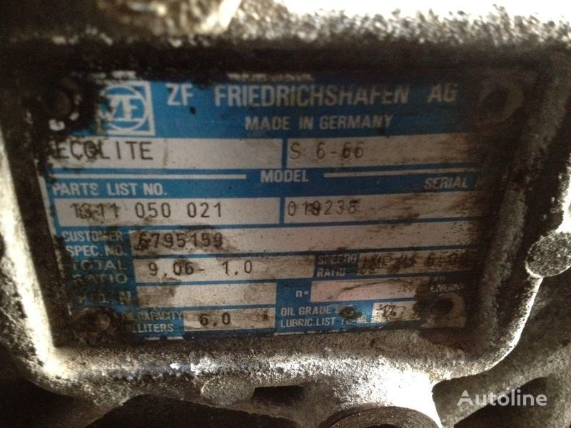 ZF ecolite s6-66 gearbox for VOLVO fl6 truck
