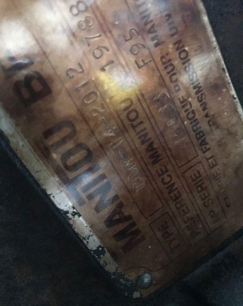 com t4 2012 [CZĘŚCI/PARTS] gearbox for MANITOU telehandler