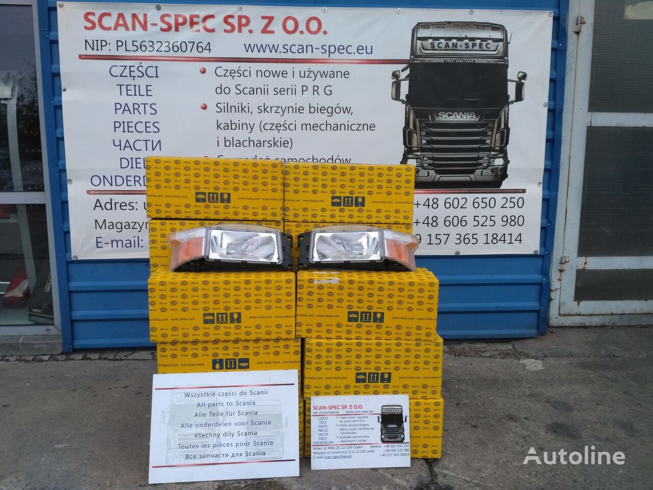 new SCANIA P R G headlight for SCANIA P R G T tractor unit