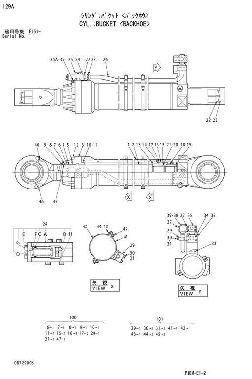 new HITACHI BUCKET CYLINDER hydraulic cylinder for HITACHI EX3600 excavator
