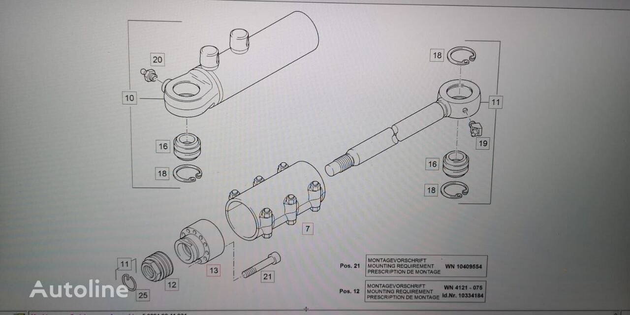 LIEBHERR GM65 hydraulic cylinder for excavator