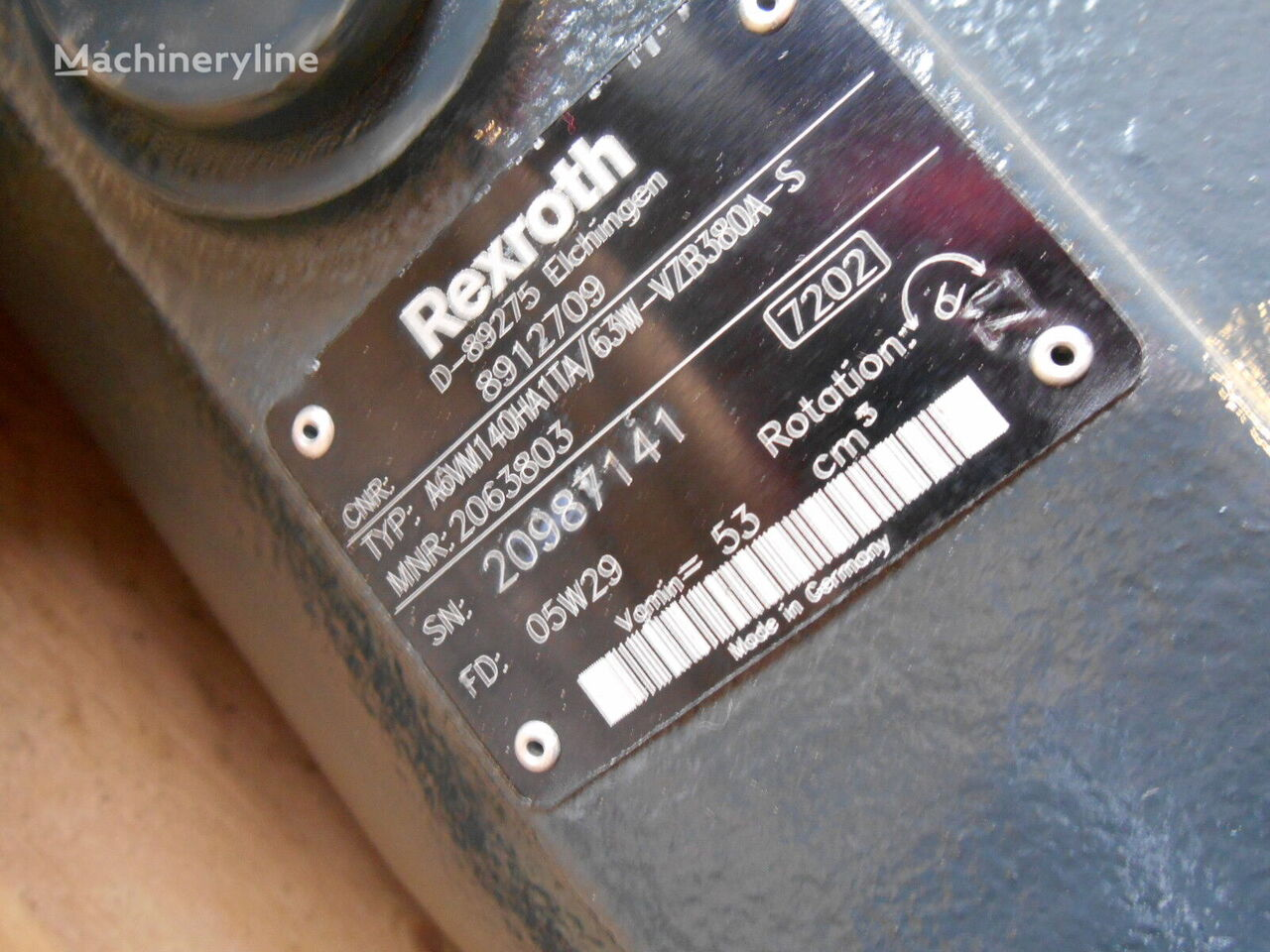 Rexroth A6VM140HA1T/63W-VZB380A-S hydraulic motor for O&K MH8.6NH T3 excavator
