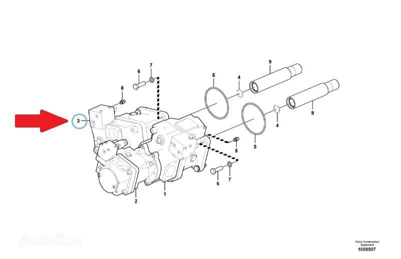new VOLVO hydraulic motor for VOLVO  L220G wheel loader