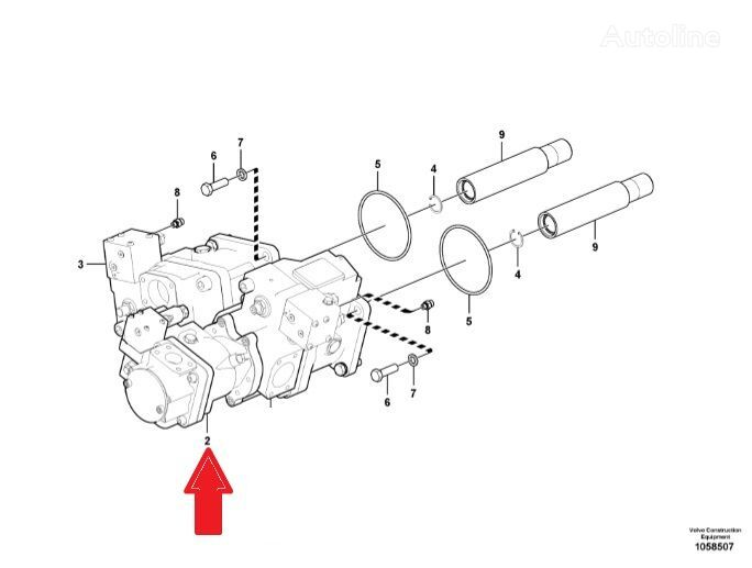 new volvo voe17201756  voe17201756  hydraulic motor for