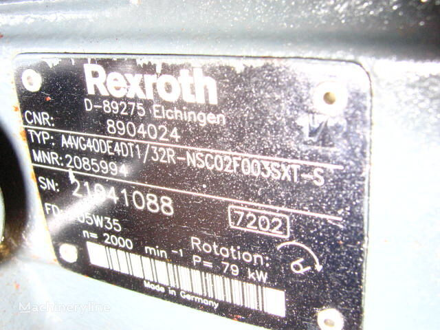 new REXROTH A4VG040DE4DT1/32R-NSC02F003SXT-S (8904024) hydraulic pump for excavator