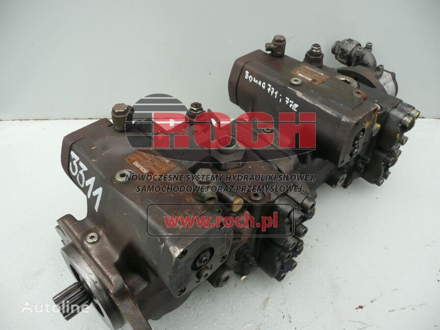 Rexroth A4VG71 hydraulic pump for BOMAG  BC 771, BC772 construction roller