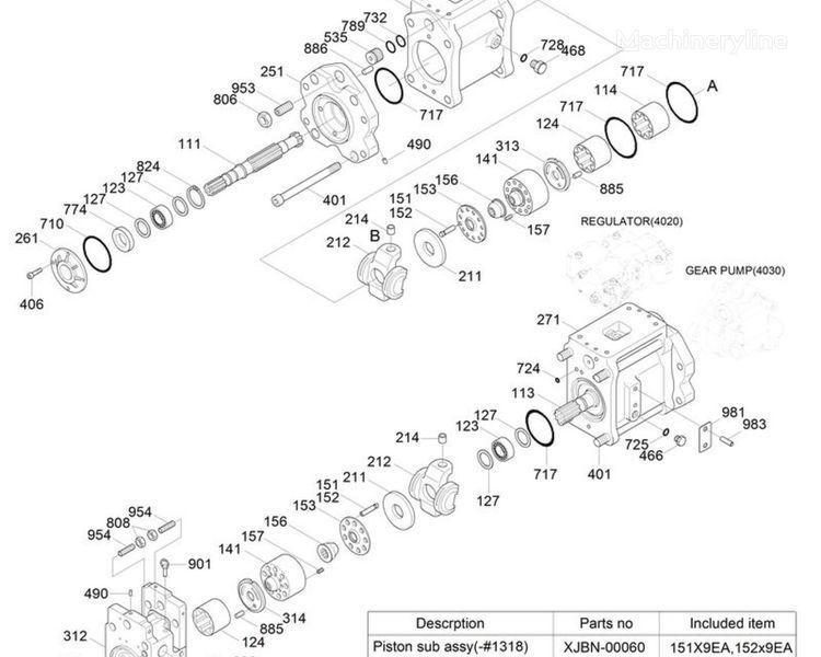 main pump hydraulic pump for HYUNDAI R250LC 7 excavator