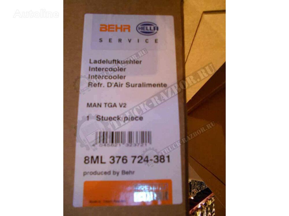 MAN (376724381) intercooler for MAN tractor unit