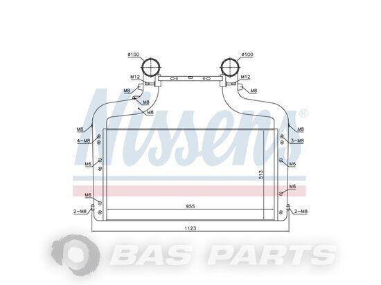 NISSENS (1909457) intercooler for truck