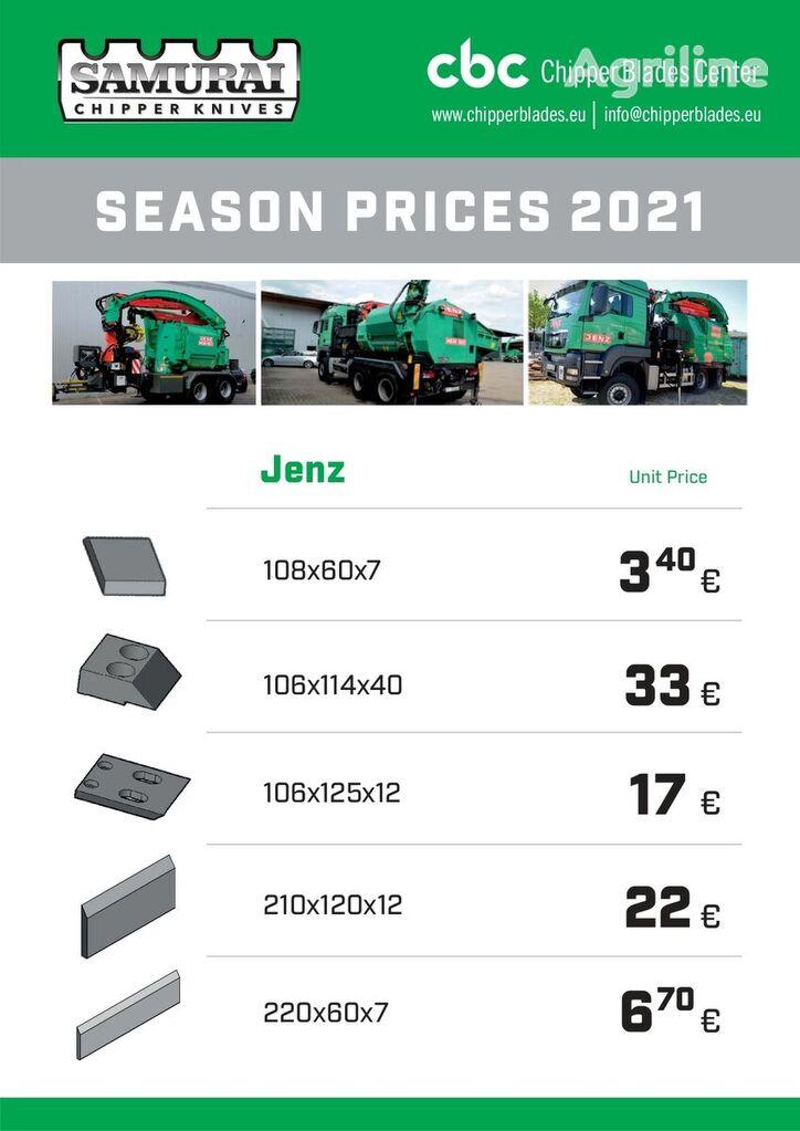 new JENZ HM knife for JENZ HEM 560; HEM561; HEN 582; HEM 820; HEM593 wood chipper
