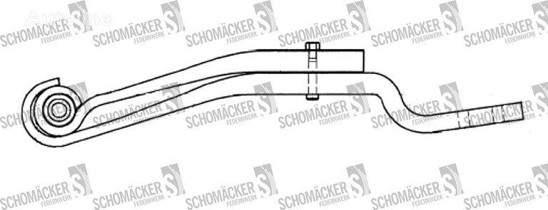 new SAF 3149004200 leaf spring for semi-trailer