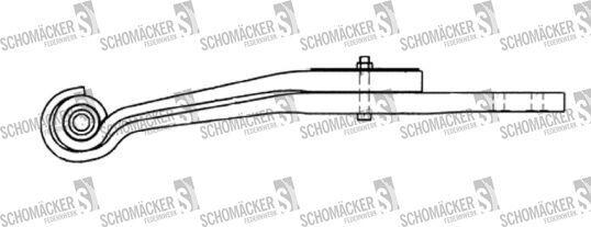 new SAF 3155102502 leaf spring for semi-trailer