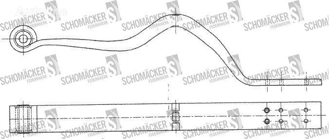 new SCHMITZ CARGOBULL (Nr OE: 1023939) leaf spring for SCHMITZ CARGOBULL semi-trailer