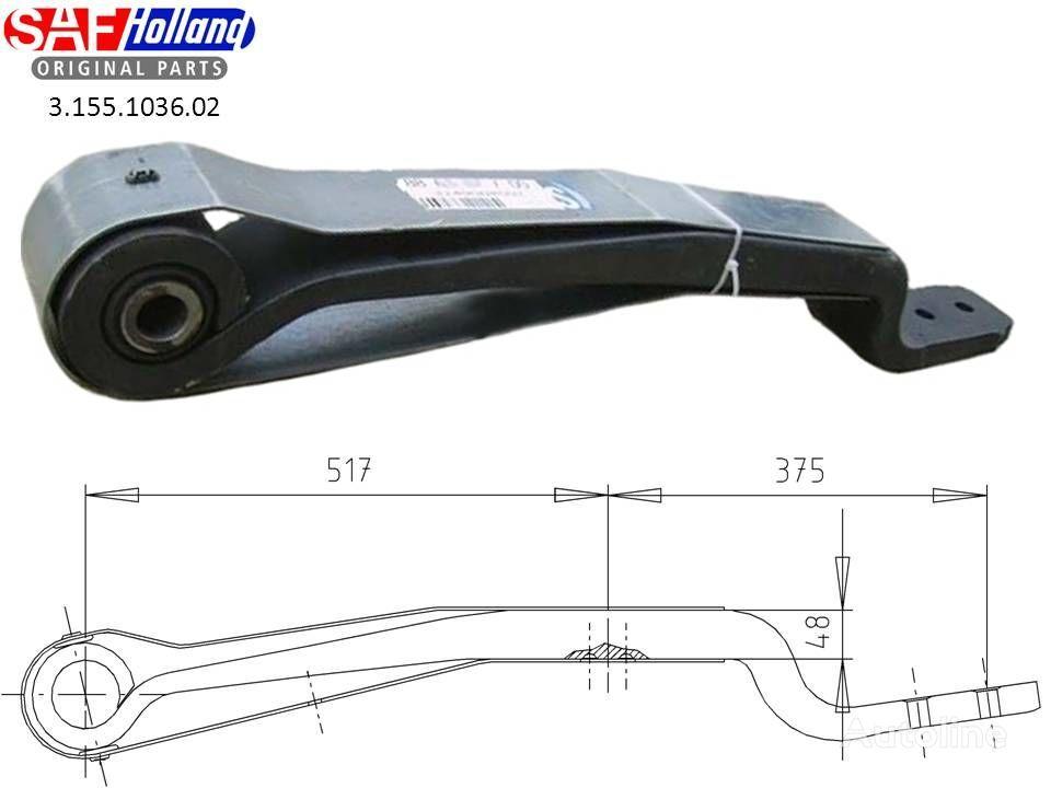 new SAF 3155103602,3155103601,F188Z035ZA75 leaf spring for SAF tractor unit