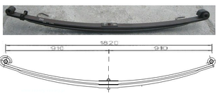 SCANIA (1377668) leaf spring for truck
