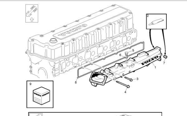 manifold for VOLVO FH 12 asta 2001 E2 / E3 FG 4X2 E2/E3 [12,1 Ltr. - 309 kW Diesel (D12D420)] truck