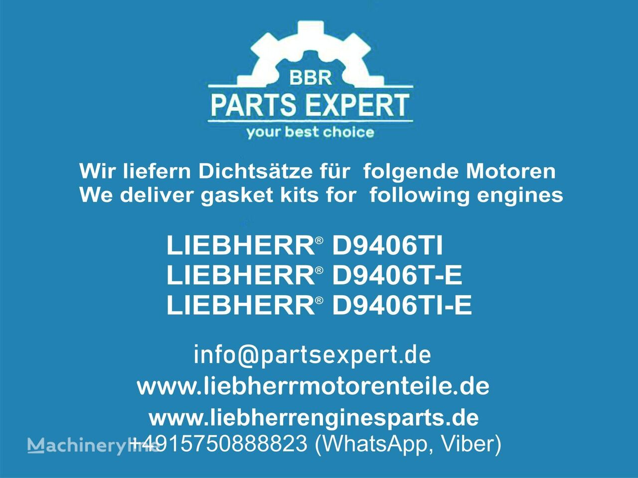 Dichtsätze LIEBHERR other engine spare part for LIEBHERR D9406 excavator