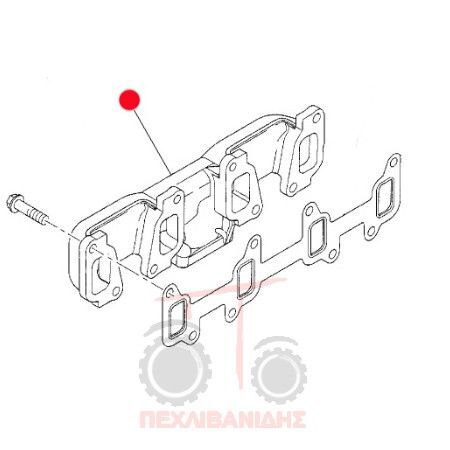 Pollaple Exagoge 1104 AGCO other exhaust system spare part for MASSEY FERGUSON tractor