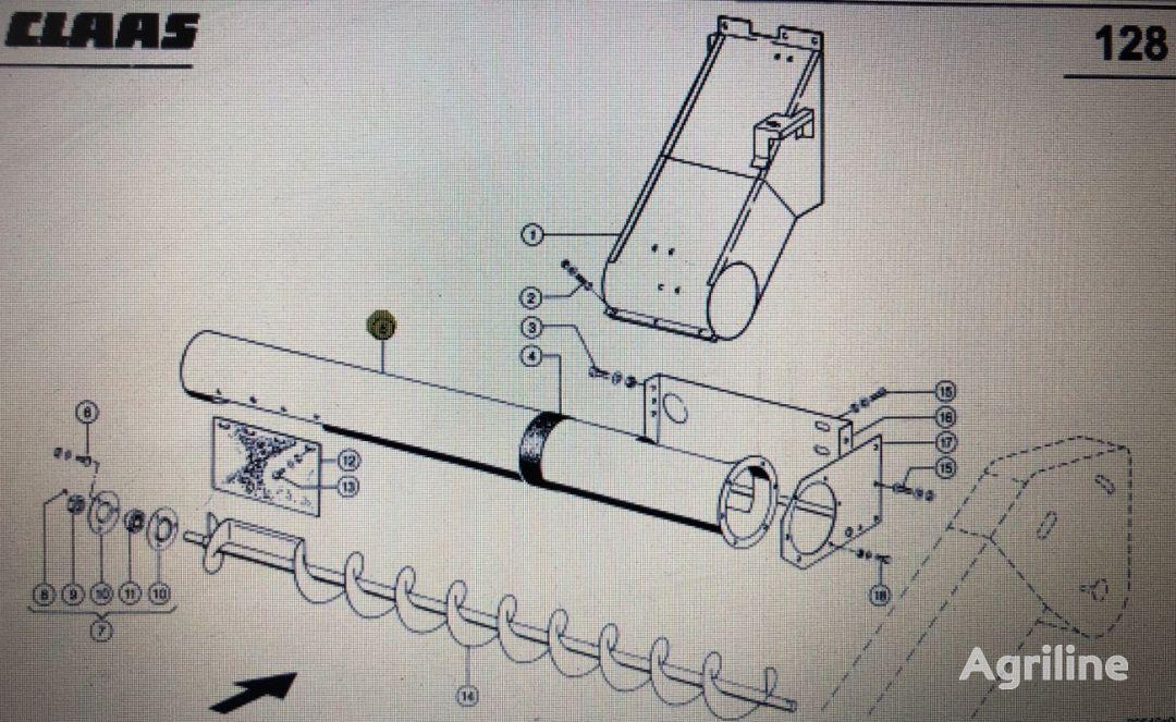 Rura rozładowcza other operating parts for CLAAS Mega 370-340 grain harvester