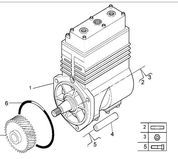 Depresor De Aceite (7485003211) pneumatic compressor for RENAULT Premium Distribution 420.18 truck