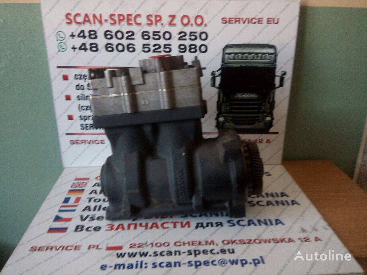 XPI (2039906) pneumatic compressor for SCANIA SERIE  R tractor unit