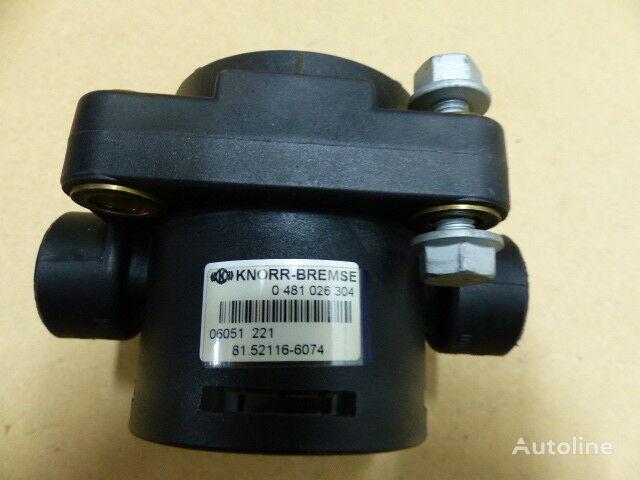 KNORR-BREMSE Bremsventil ohne Filter (0481026304) pneumatic valve for MERCEDES-BENZ Universal DAF MAN  truck