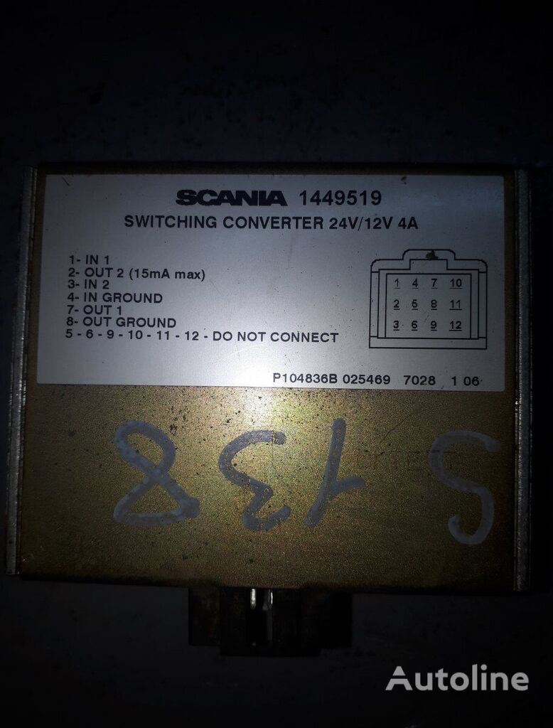 SCANIA 4-series 124 (01.95-12.04) power inverter for SCANIA 4-series 94/114/124/144/164 (1995-2004) truck