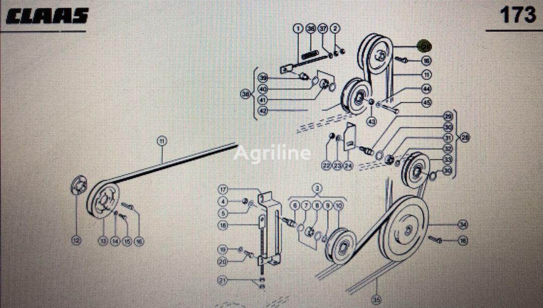 (000 629 135 0) pulley for CLAAS Mega 370-340  grain harvester
