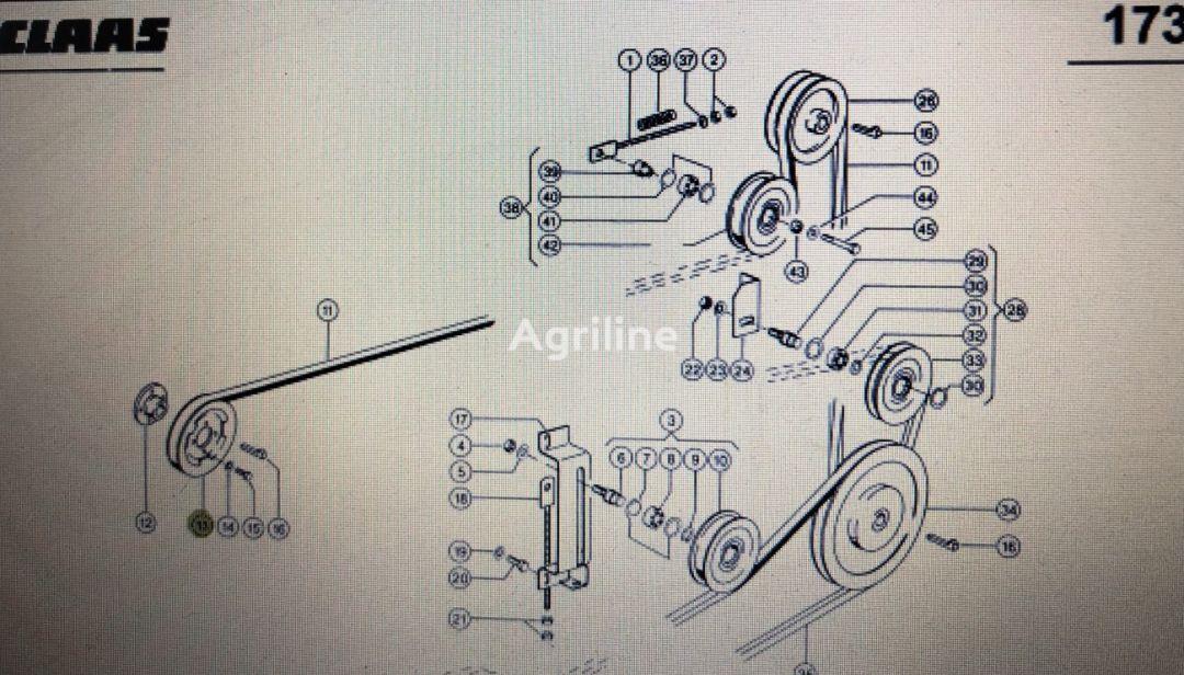 (000 629 723 0) pulley for CLAAS Mega 370-340  grain harvester