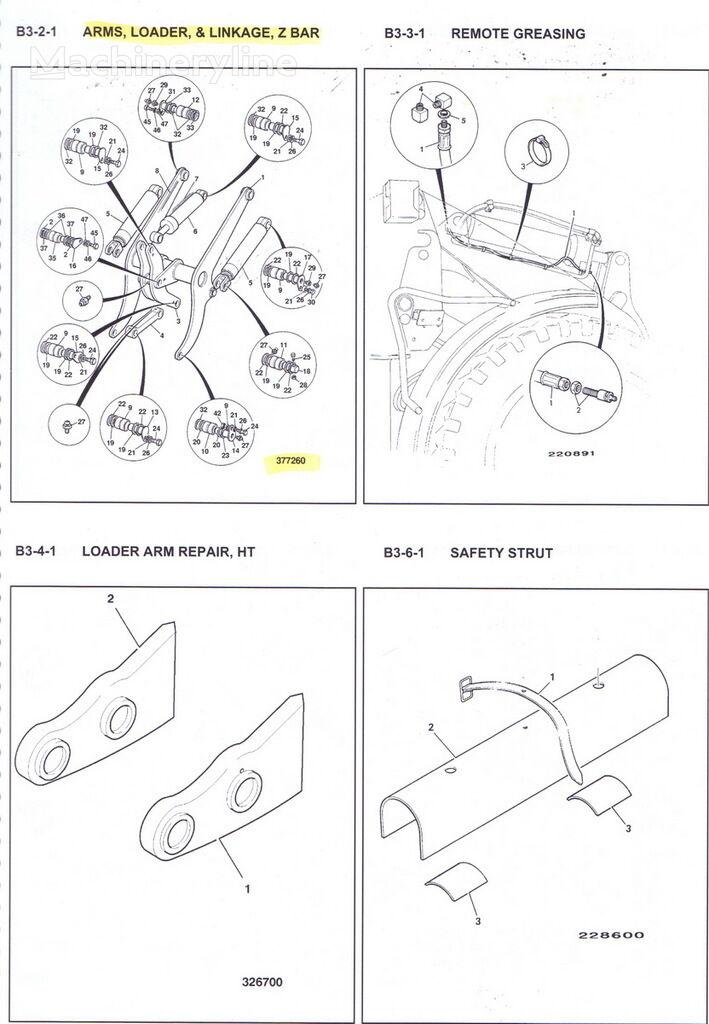 JCB quick coupler for JCB 436 wheel loader