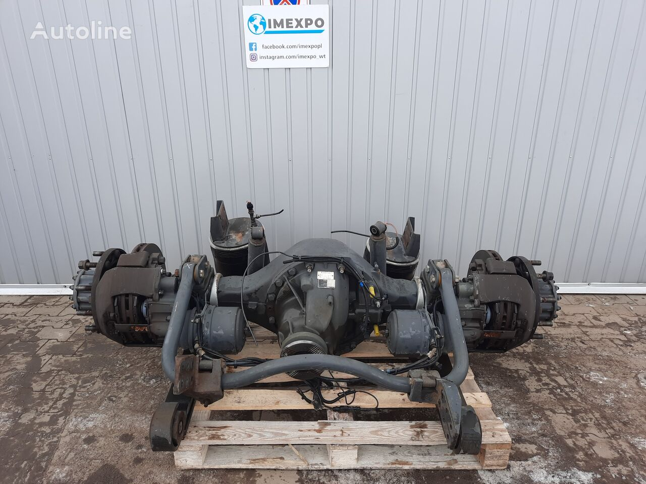 RENAULT MS17X / RSS1344C / ratio: 1/285 2.85 / COMPLETE - LOW MILEAGE rear axle for RENAULT PREMIM DXI EEV tractor unit