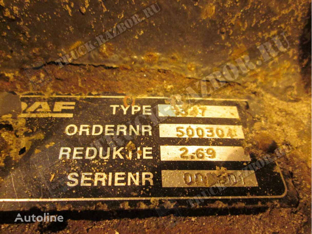 DAF zadnego mosta reducer for DAF XF105 AAS1347SV 2.69 43/16 ZUBOV tractor unit
