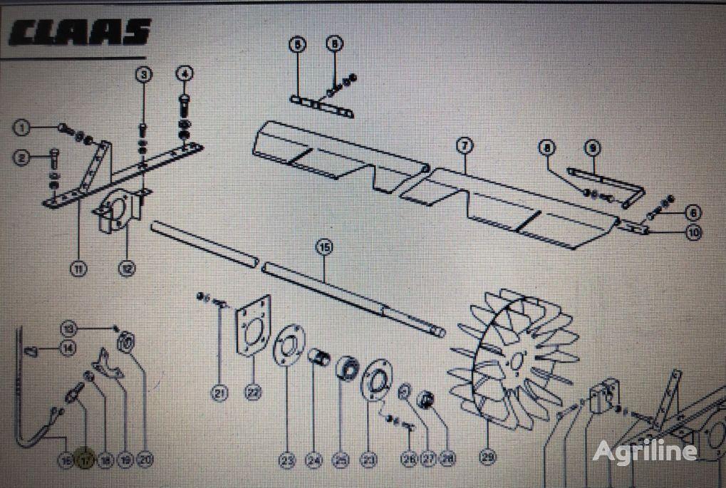 zmiany obrotów sensor for CLAAS Mega 370-340 grain harvester