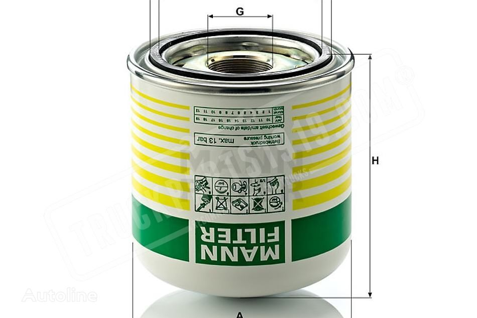 Air-drying box for air braking MANN-FILTER (TB1364X) spare parts for truck
