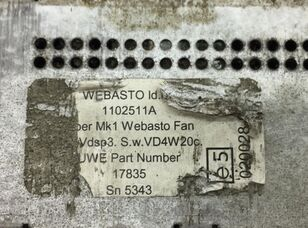 Webasto (01.06-) (4CCCUWED) spare parts for SCANIA K N F-series (2005-) bus