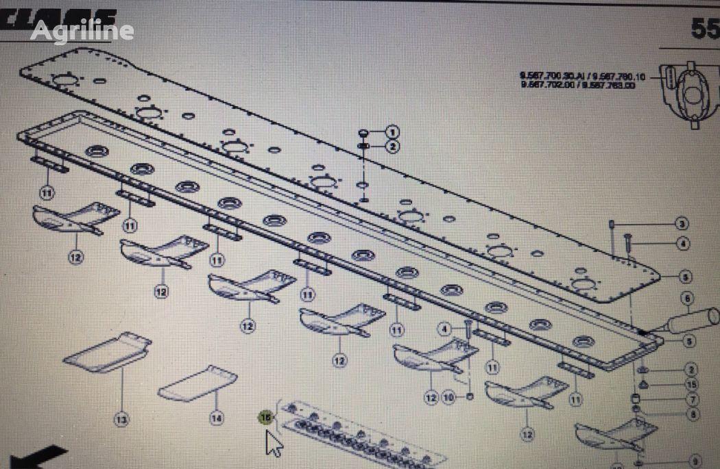 belka przekladni CLAAS 00 0138 461 1 spare parts for CLAAS DISCO  tractor