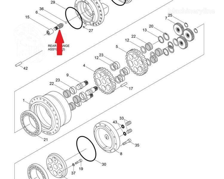 Шестерня XKAH-00017 HYUNDAI spare parts for HYUNDAI R140 LC-7 excavator