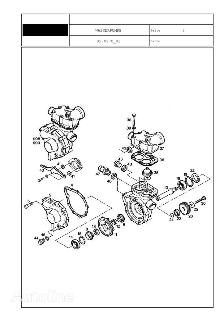 WASSERPUMPE LTM 1025 , POMPA WODY LIEBHERR LTM 1025 spare parts for mobile crane