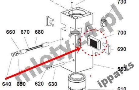 spare parts for MONTABERT 1200 klin zabezpieczenie grot nie Ramer other construction equipment
