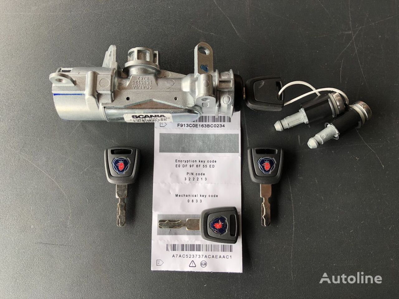 SCANIA | Keys + Locker and Codes SCANIA spare parts for truck